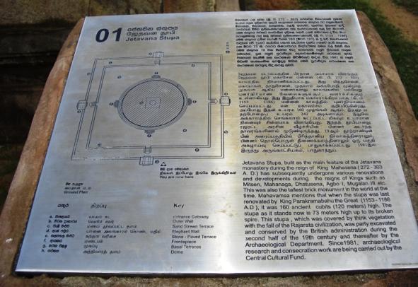 Info on Jatavanaramaya stupa