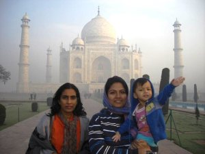 Taj Mahal 31 Jan 2013 with Muni's famiy